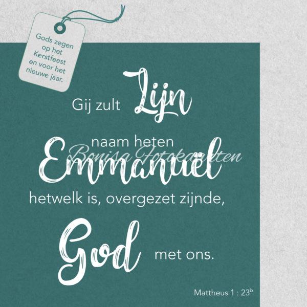Bijbeltekst 1b Gods zegen...